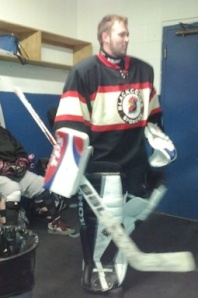 Yes.  I am both a hockey and spongee goalie.  Fear the man between the pipes
