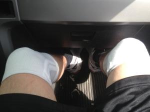 Knee braces.  I'm a pseudo Stone Cold Steve Austin.